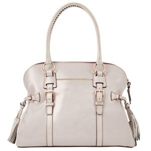 Dooney and Bourke Domed Buckle Leather Satchel